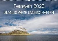 Fernweh 2020 - Islands weite Landschaften (Wandkalender 2020 DIN A2 quer): Faszinierende Landschaften Islands vereint in diesem Kalender (Monatskalender, 14 Seiten )
