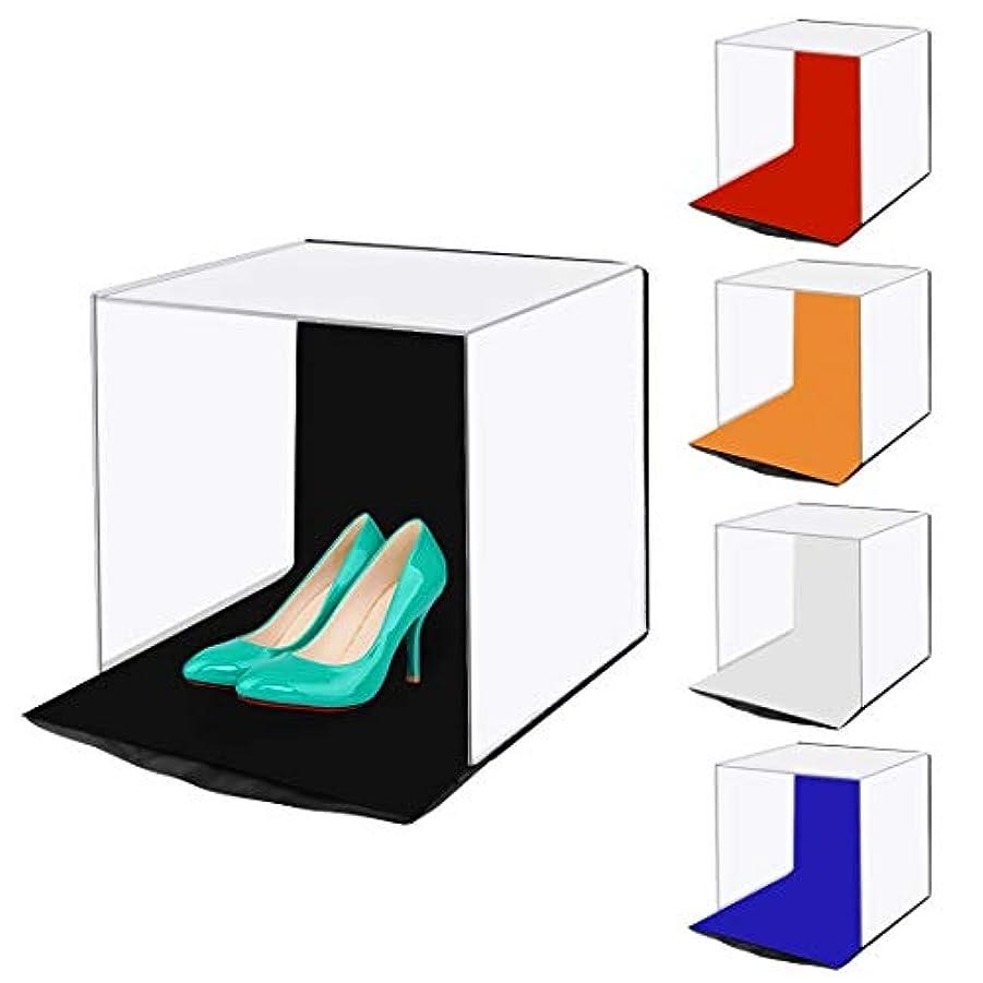 船形広大な酸っぱいGM ライトボックス写真, 5色の背景幕(赤、オレンジ、青、白、黒)を備えた40 cmフォトソフトボックスポータブル折りたたみスタジオ撮影テントボックスキット (色 : Color2)
