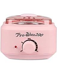 プロの電気ワックスウォーマーとヒーター、速くて痛みのない脱毛、楽器多機能溶融ワックスマシンホームワックス女性/男性用500CC (Color : Pink)