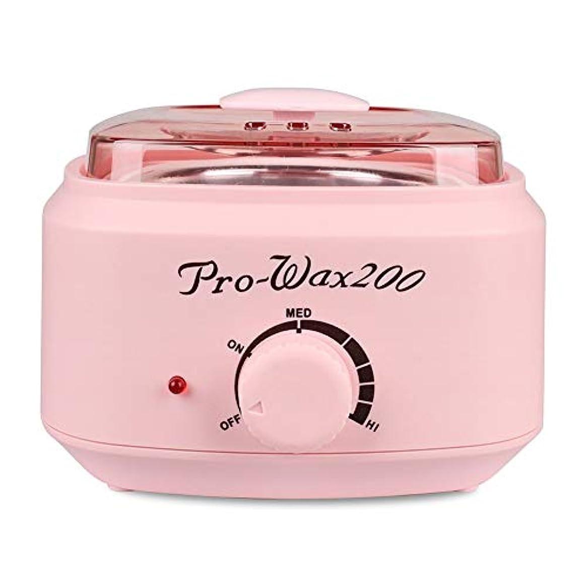 疑わしいメモ冷酷なプロの電気ワックスウォーマーとヒーター、速くて痛みのない脱毛、楽器多機能溶融ワックスマシンホームワックス女性/男性用500CC (Color : Pink)