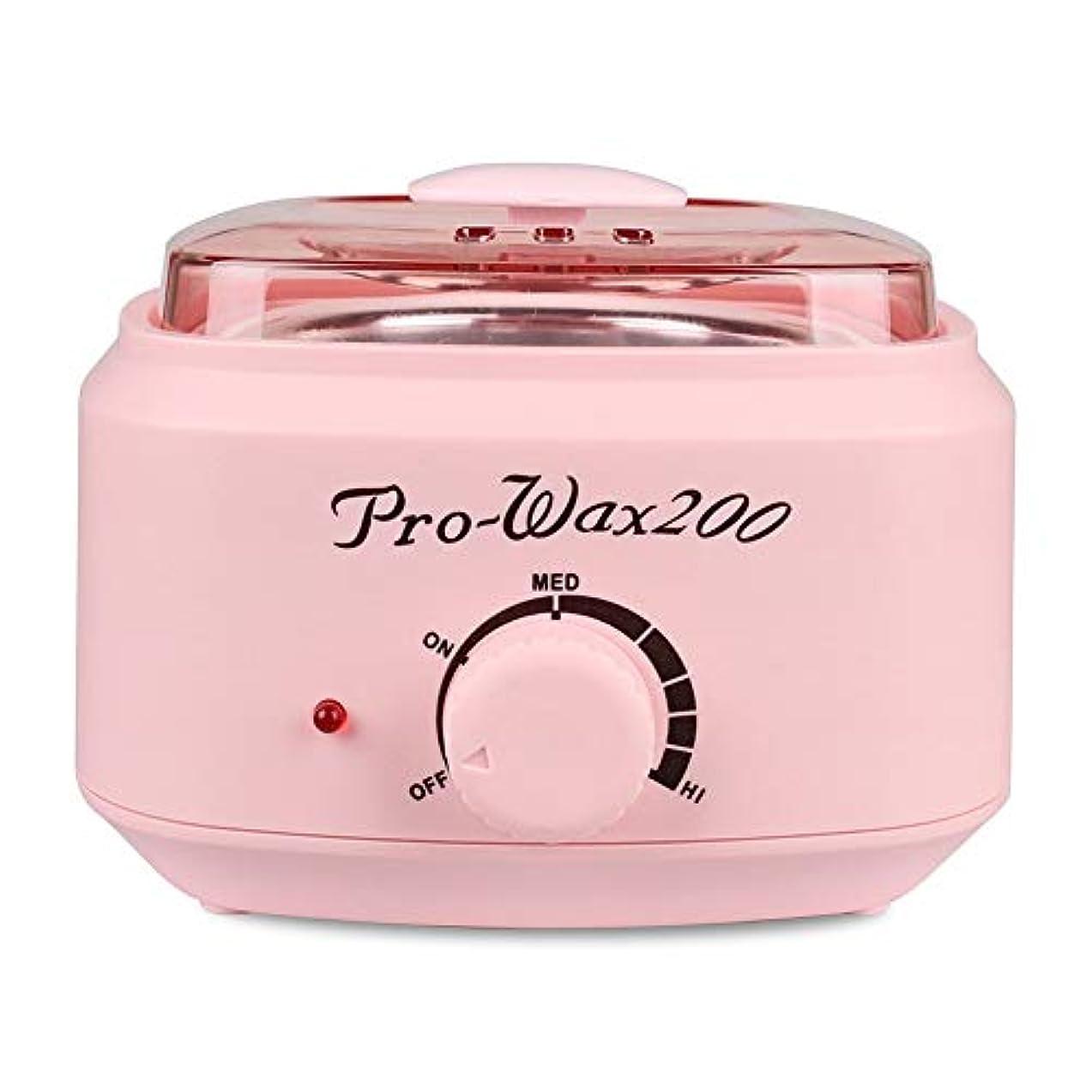 きれいに発疹クスクスプロの電気ワックスウォーマーとヒーター、速くて痛みのない脱毛、楽器多機能溶融ワックスマシンホームワックス女性/男性用500CC (Color : Pink)