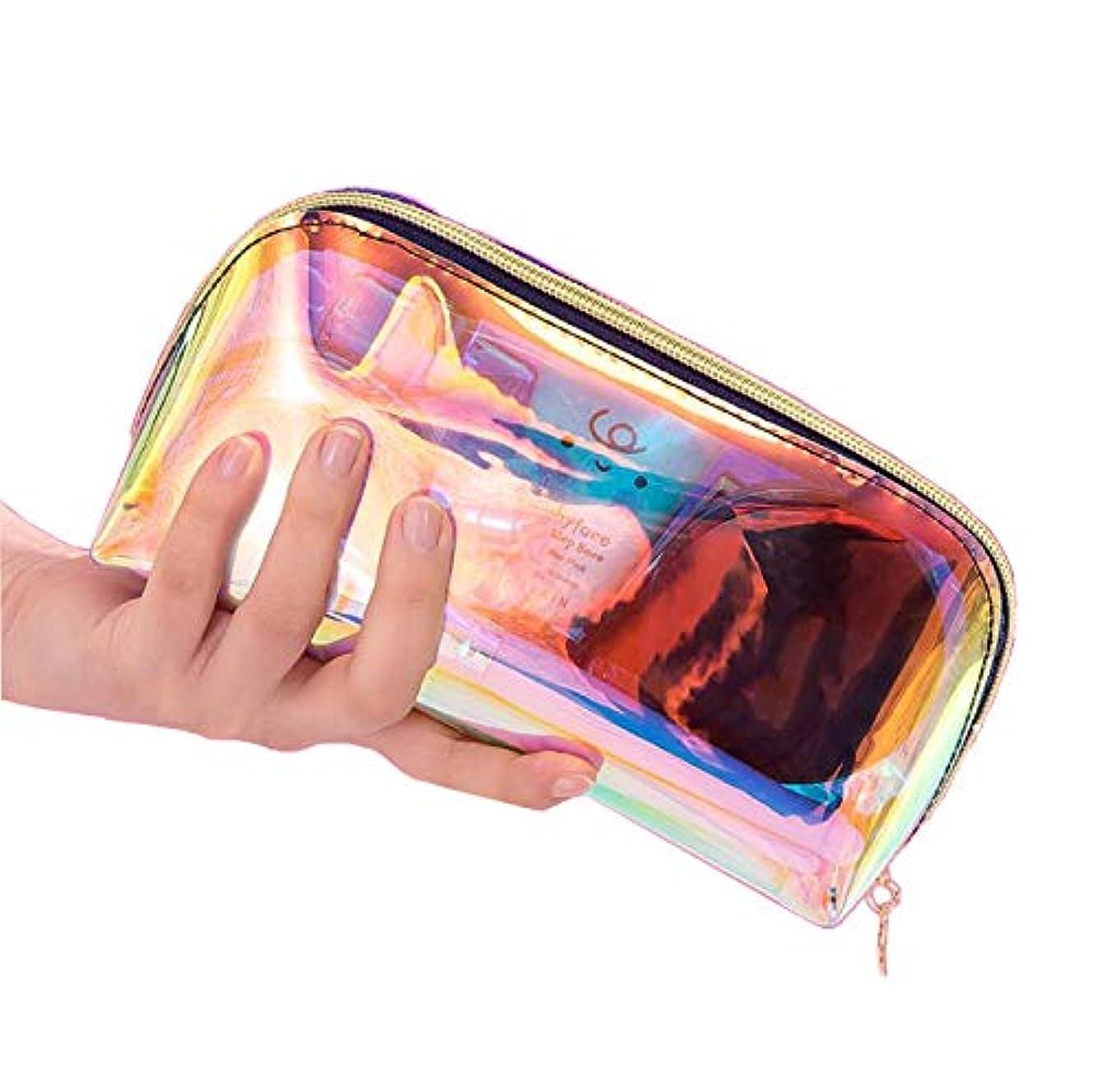 フィクションゴールデン礼儀Ranoki 化粧品バッグ 収納防水多彩透明メッシュ温泉、 ビーチサイド旅行、出張、便利、メイク 収納 メイクブラシポーチ化粧品