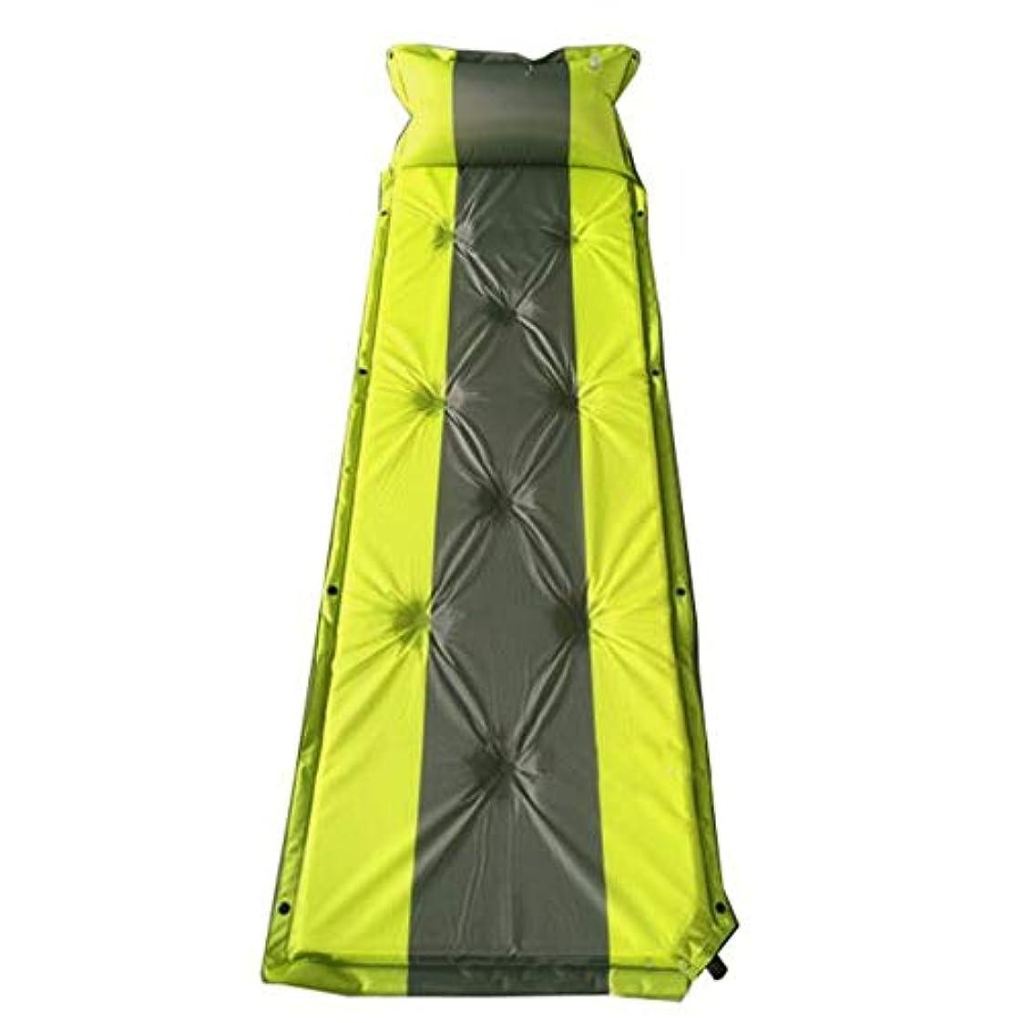 差別的陽気なトラクターキャンプ用エアベッド 車のキャンプのバックパック旅行に最適です。追加の枕を備えたシングルステッチ、軽量のインフレータブル屋外エアバッグマットレス ポータブルエアマットレス (色 : 緑, サイズ : 75.6*22.4*1.18inches)