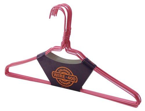 ワイヤーハンガー ピンク 10本セット