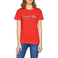 TOMMY HILFIGER Women's Aila Crew Neck Short Sleeve Logo T-Shirt