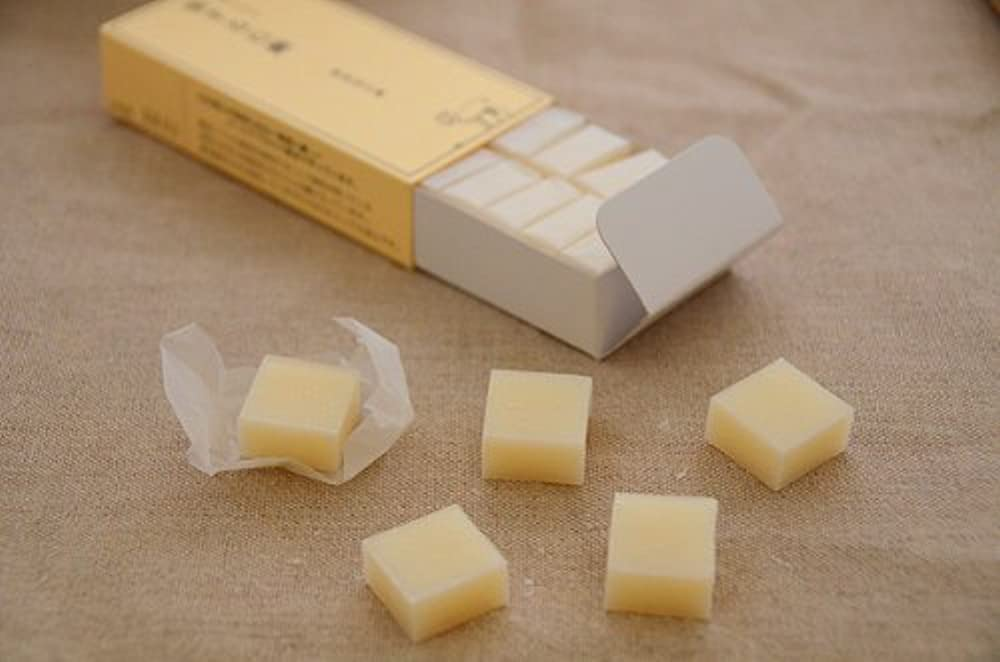 置き場取り壊す徹底的に無添加「旅する石鹸 やぎ山羊ミルク」48g(16粒)