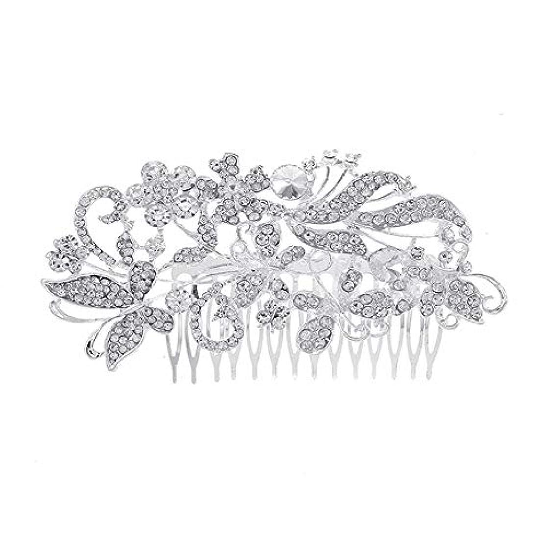 ガラス裁判官社会科髪の櫛、櫛、花嫁の髪の櫛、亜鉛合金、結婚式のアクセサリー、櫛