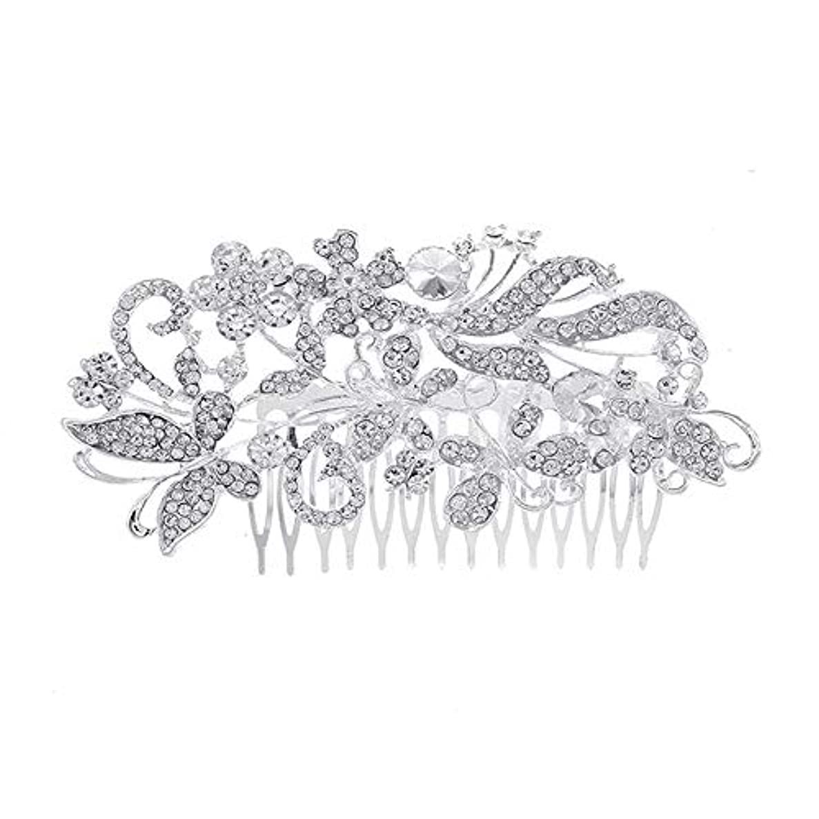 髪の櫛、櫛、花嫁の髪の櫛、亜鉛合金、結婚式のアクセサリー、櫛