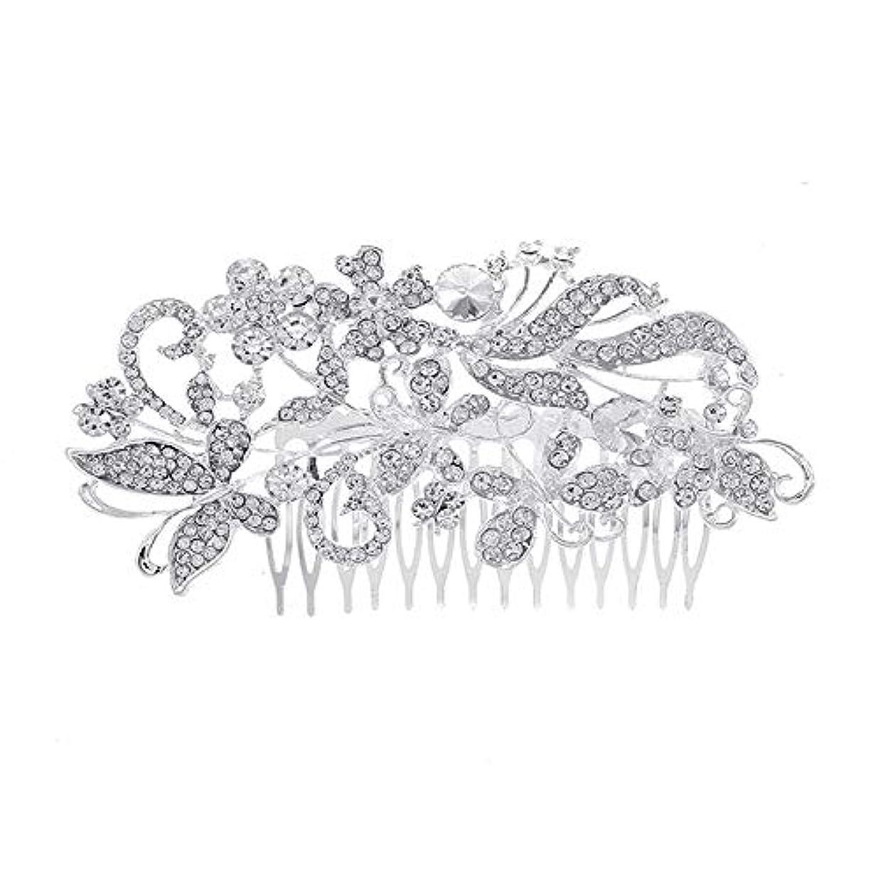 裁判所トレーダー一流髪の櫛、櫛、花嫁の髪の櫛、亜鉛合金、結婚式のアクセサリー、櫛