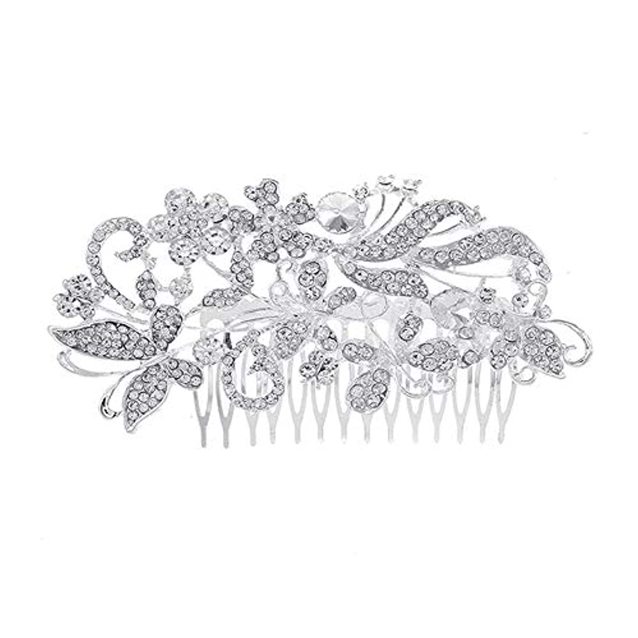 住所満員変数髪の櫛、櫛、花嫁の髪の櫛、亜鉛合金、結婚式のアクセサリー、櫛