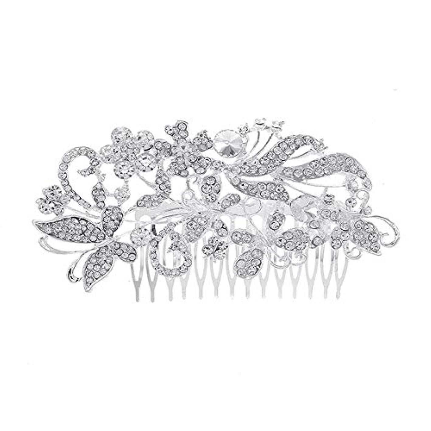 ロッジカバレッジロードされた髪の櫛、櫛、花嫁の髪の櫛、亜鉛合金、結婚式のアクセサリー、櫛