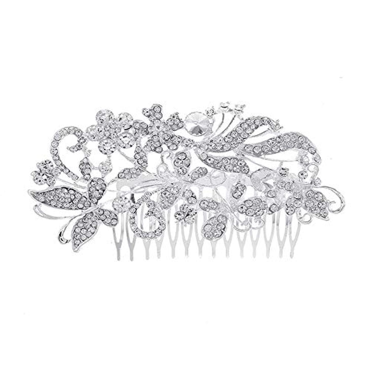 対処追加する過度の髪の櫛、櫛、花嫁の髪の櫛、亜鉛合金、結婚式のアクセサリー、櫛