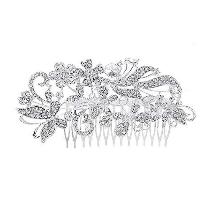 ディスカウントペルセウス電化する髪の櫛、櫛、花嫁の髪の櫛、亜鉛合金、結婚式のアクセサリー、櫛