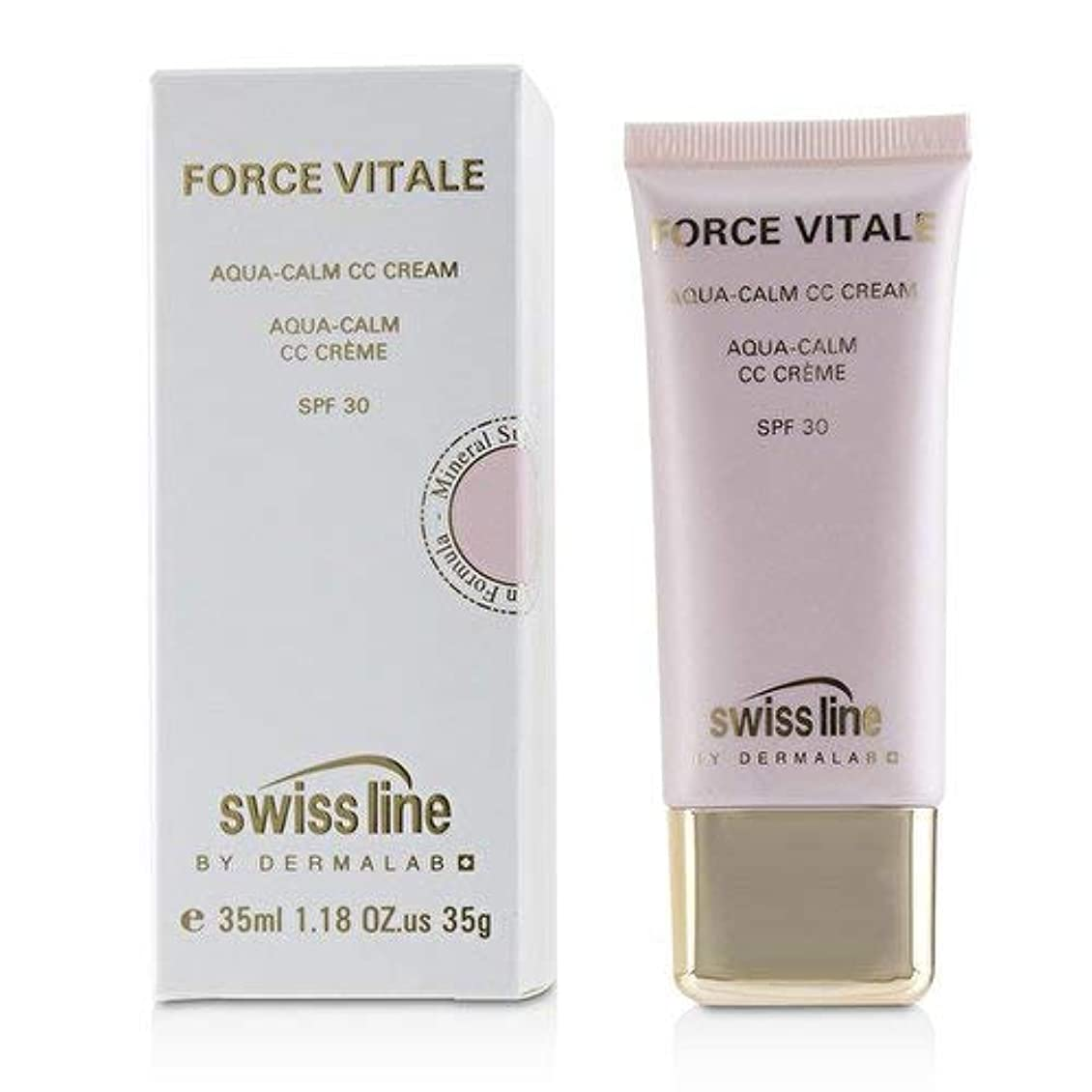 お酢原点トラフィックスイスライン Force Vitale Aqua-Calm CC Cream SPF30 - Beige 10 35ml並行輸入品