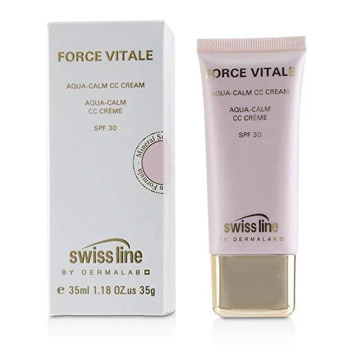 しおれたパケット盆スイスライン Force Vitale Aqua-Calm CC Cream SPF30 - Beige 10 35ml並行輸入品