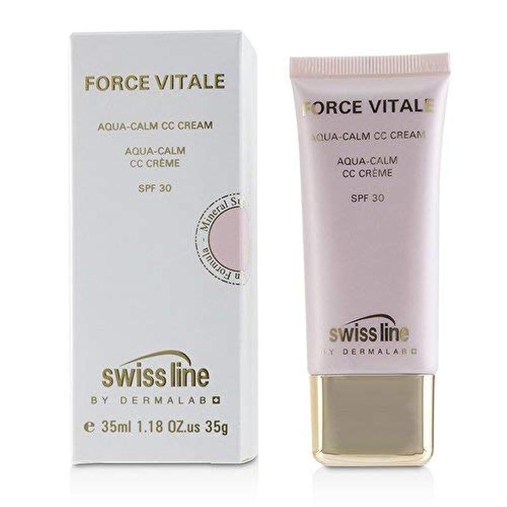 準備ができて障害調整可能スイスライン Force Vitale Aqua-Calm CC Cream SPF30 - Beige 10 35ml並行輸入品