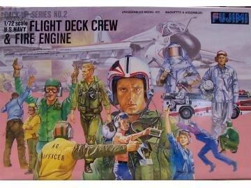 バックアップシリーズ B-up-2 1/72消防車&デッキクルー