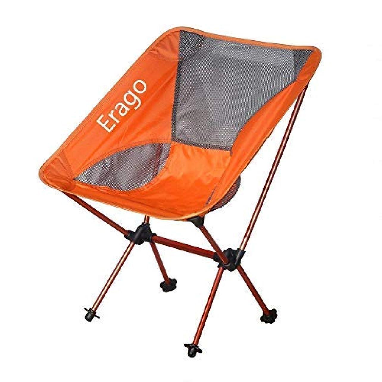 荒らす眠り有害なErago Folding Camping Chair Portable,Backpack & Comfortable,Perfect for Hiking, Camping, Fishing,Beach, Outdoor [並行輸入品]