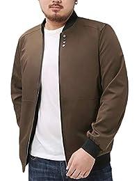 chenshiba-JP メンズスリムフィットジップアップロングスリーブプラスサイズボンバージャケット