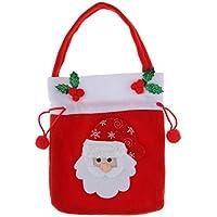 Blesiya 子供 クリスマス お菓子 リンゴ バッグ ハンドル付き 持ち運び 便利 全3デザイン - サンタクロース