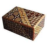 箱根寄木細工 寄木細工ひみつ箱 4寸 10回 Trick Box 10steps