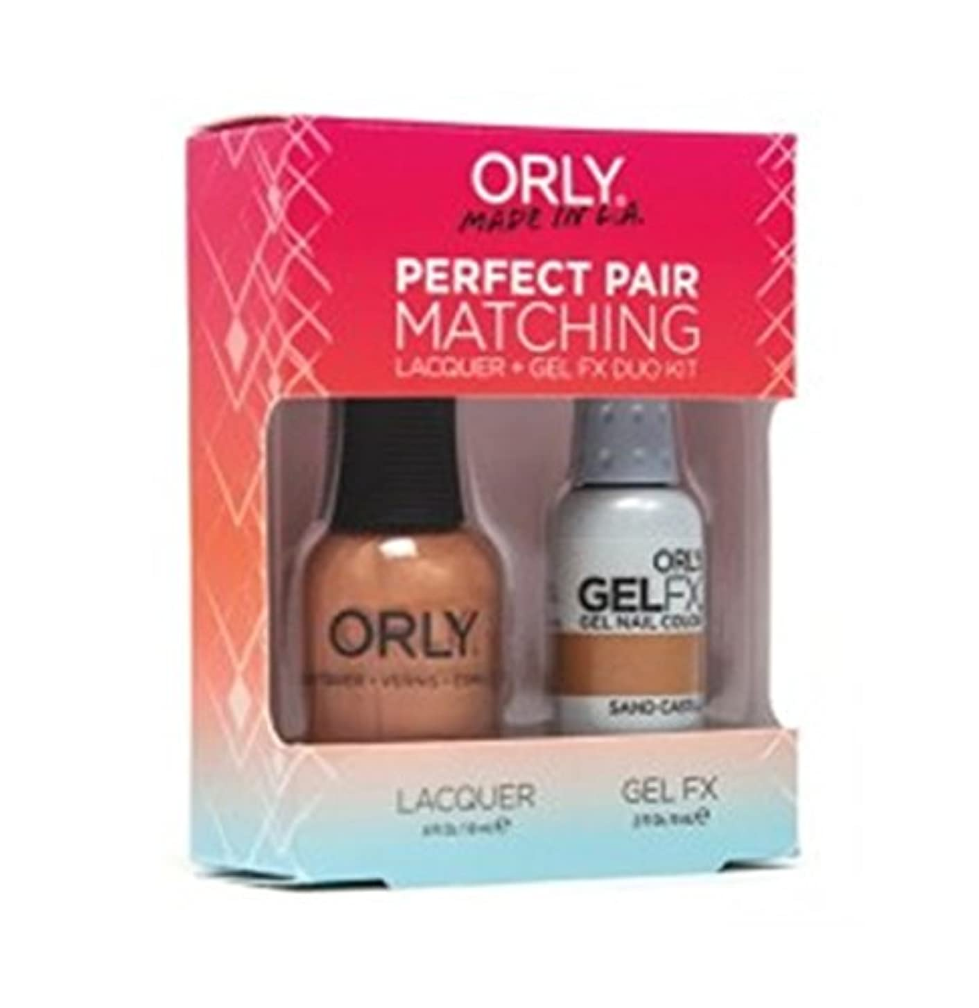 画像ハグ課すOrly - Perfect Pair Matching Lacquer+Gel FX Kit - Sand Castle - 0.6 oz / 0.3 oz