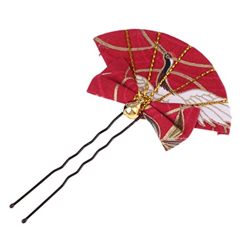 B Blesiya 2カラー選択 金属製 セクターパターン ドールヘアピン ヘアクリップ 髪飾り ドール人形のため 1/6スケールブライスドール対応 - 赤