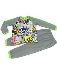 スプラトゥーン2 変身光るパジャマ 長袖パジャマ バンダイ (チャコール, 130cm)