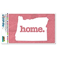 オレゴン州OR ホーム州 MAG-NEATO'S(TM) ビニールマグネット - テクスチャサーモンピンク