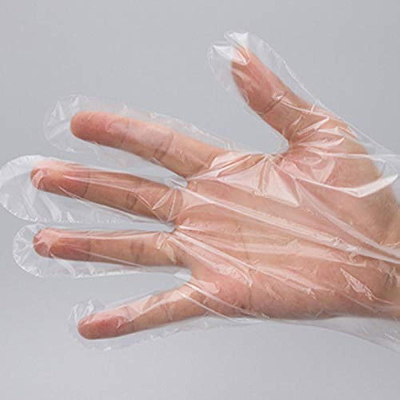 道路要塞マージン使い捨て手袋 極薄ビニール手袋 ポリエチレン 透明 実用 衛生 500枚セット