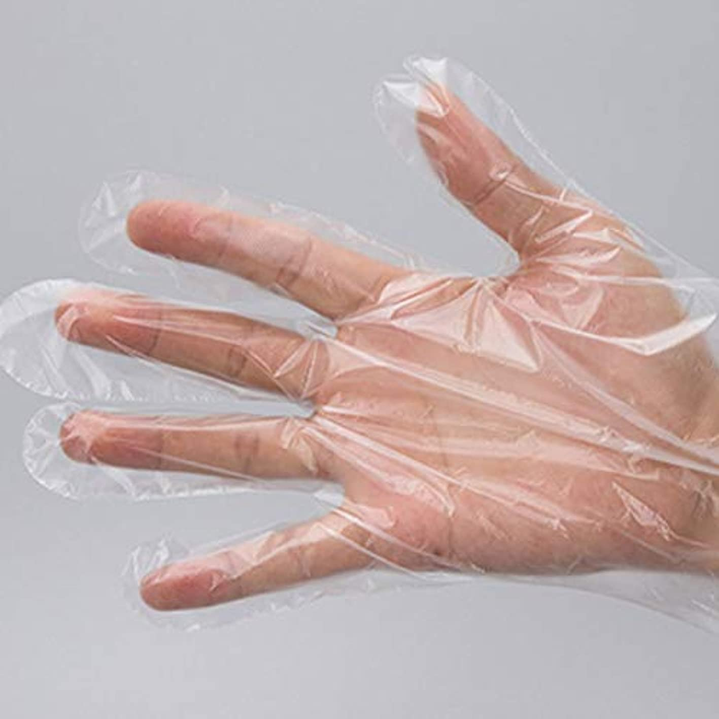 絡まるテロリスト綺麗な使い捨て手袋 極薄ビニール手袋 ポリエチレン 透明 実用 衛生 500枚セット