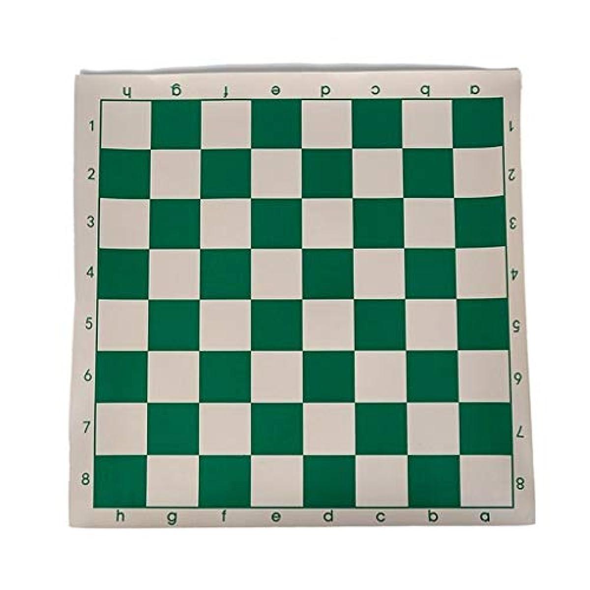 高品質おもちゃゲームチェス 1ピースビニールトーナメントチェスボード用子供教育ゲームグリーン&ホワイト磁気ボード用チェスチェッカー34.5センチ クリエイティブトラディショナルチェス (Color : Green White, サイズ : 34.5*34.5cm)