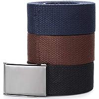 Marino's Nylon Canvas Web Belt Military Style-3 pack-Bottle Opener Steel Buckle