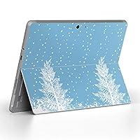 Surface go 専用スキンシール サーフェス go ノートブック ノートパソコン カバー ケース フィルム ステッカー アクセサリー 保護 その他 雪 冬 001486