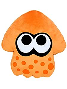 スプラトゥーン イカ クッション 高さ35cm オレンジ