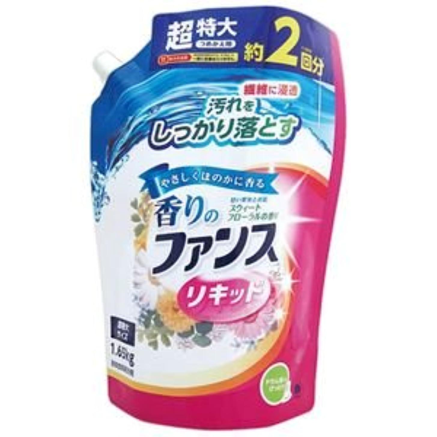 心理的にスナックコンチネンタル(まとめ) 第一石鹸 香りのファンス 液体衣料用洗剤リキッド 詰替用 1.65kg 1セット(6個) 【×2セット】