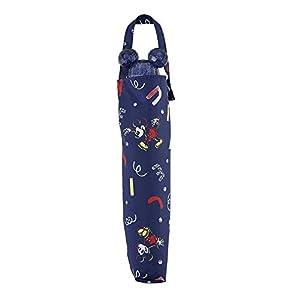 小川(Ogawa) 折りたたみ傘 ミッキー/アルファベットロゴ 親骨の長さ:55cm キャラクターアンブレラフェイス 18001