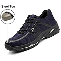Safety Shoes, Steel Toe Cap Trainers Lightweight Mens Womens Safety Shoes Work Midsole Protection,38/EU