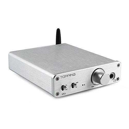 ToppingVXシリーズ新作品 VX3 ブルートゥース4.0 デジタルアンプ AUX TPA3116D2採用 ヘッドホンアンプ DAC内臓 シルバー