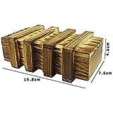 「♣zqion」パズルボックス 木製秘密箱 3回仕掛け 古代金庫 手品道具