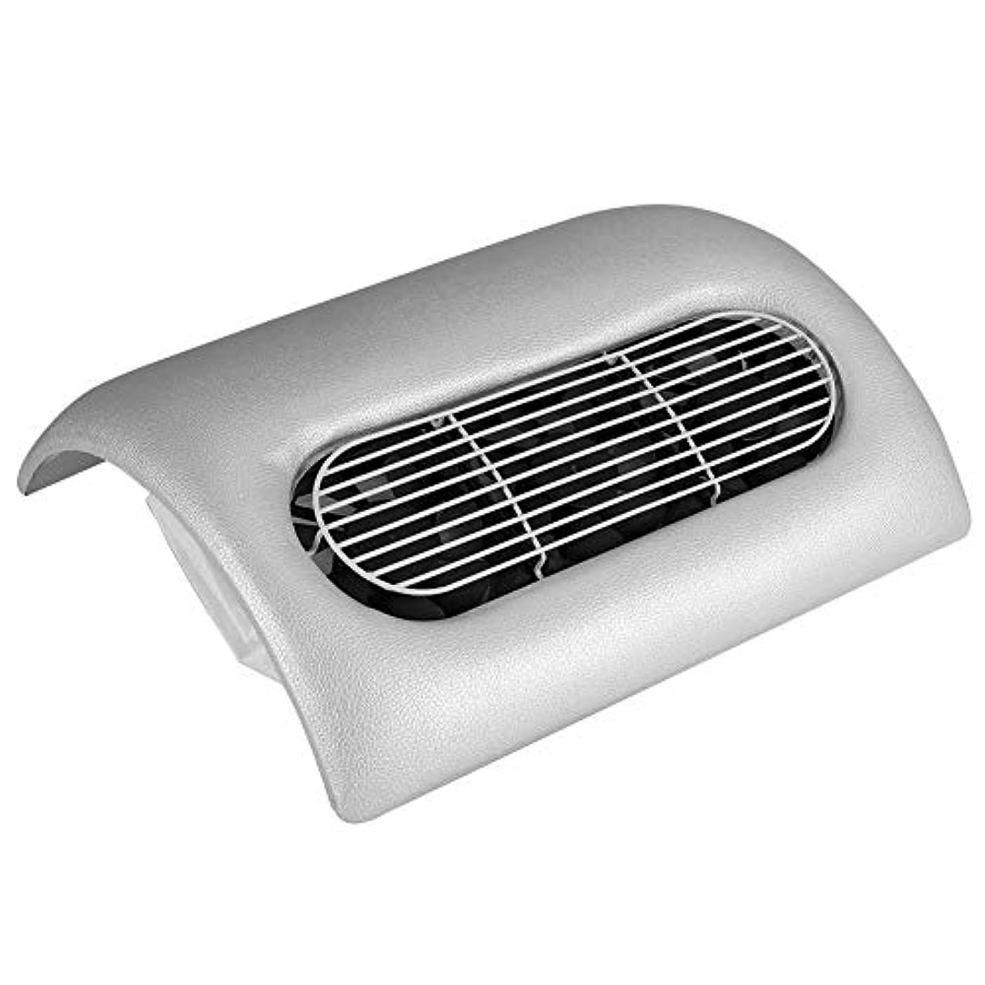どれでも日骨ネイルダスト掃除機,ネイルダストクリーナー3色ー2-IN-1強力なネイルアート集塵機コレクターマニキュア掃除機 (Silver)