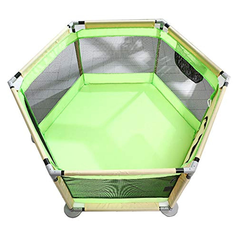 ベビーサークル, ポータブルベビープレイペン、室内子供用プレイフェンス、安全プレイヤードフェンス、ベビークローリング幼児フェンスベビーホームゲームフェンス (色 : Green)