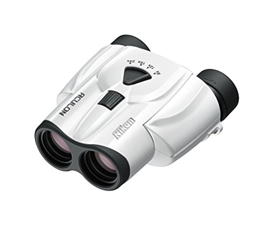 ミット不忠うぬぼれたNikon ズーム双眼鏡 アキュロンT11 8-24x25 ポロプリズム式 8-24倍25口径 ホワイト ACT11WH
