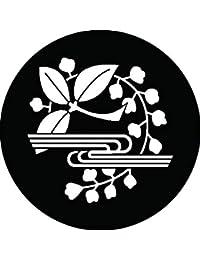 家紋シール 枝藤に水紋 布タイプ 直径40mm 6枚セット NS4-1707
