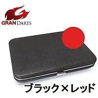 GRAN DARTS FLAT DARTS CASE (フラット ダーツケース-3) ブラック×レッド ダーツケース
