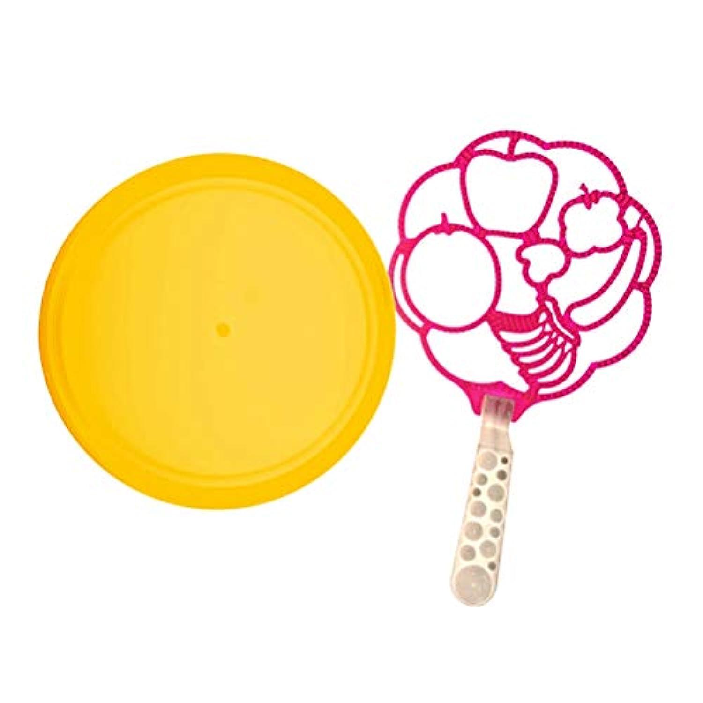 LIOOBO 屋外の泡送風機の形をした泡の吹く棒の杖党は子供の男の子および女の子のためのおもちゃを作る泡を好みます(フルーツの形の大きい泡)