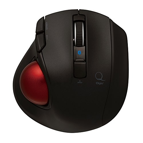 Digio2 Q 小型 トラックボール Bluetoothマウス 静音 5ボタン ブラック 48372
