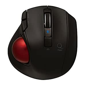 Digio2 Q 極小 トラックボール Bluetoothマウス 静音 5ボタン ブラック 48372