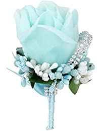 SONONIA 結婚式 花嫁 新郎 結晶 ブローチ ブローチピン シルク フラワー バラ  コサージュ 装飾