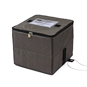 サンワダイレクト 宅配ボックス 簡易固定 軽量 折りたたみ可能 印鑑ケース付 盗難防止ワイヤー 鍵付 50リットル 300-DLBOX008